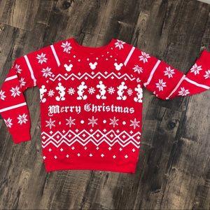 "Mickey snowflake ""Merry Christmas"" sweatshirt"